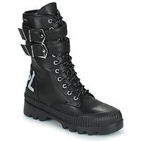 Pantofi Femei Ghete Karl Lagerfeld TREKKA II HI CUFF BUCKLE BOOT Negru