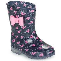 Pantofi Fete Cizme de cauciuc Be Only LOVANA FLASH Roz / Albastru