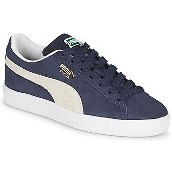 Pantofi Copii Pantofi sport Casual Puma SUEDE JR Albastru / Alb