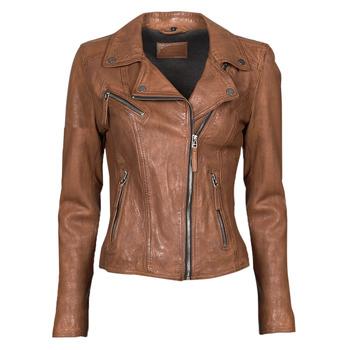 Îmbracaminte Femei Jachete din piele și material sintetic Oakwood CLIPS 6 Maro