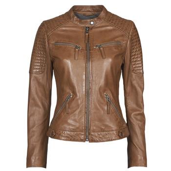 Îmbracaminte Femei Jachete din piele și material sintetic Oakwood HILLS6 Coniac