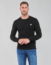 Îmbracaminte Bărbați Tricouri cu mânecă lungă  Guess CN LS CORE TEE Negru