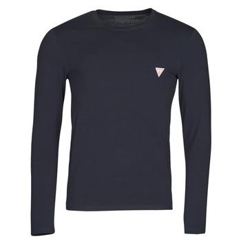 Îmbracaminte Bărbați Tricouri cu mânecă lungă  Guess CN LS CORE TEE Albastru