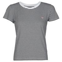 Îmbracaminte Femei Tricouri mânecă scurtă Guess ES SS GUESS LOGO BABY TEE Negru / Alb