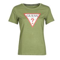 Îmbracaminte Femei Tricouri mânecă scurtă Guess SS CN ORIGINAL TEE Kaki