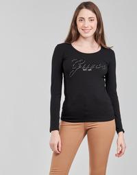 Îmbracaminte Femei Tricouri cu mânecă lungă  Guess LS CN RAISA TEE Negru