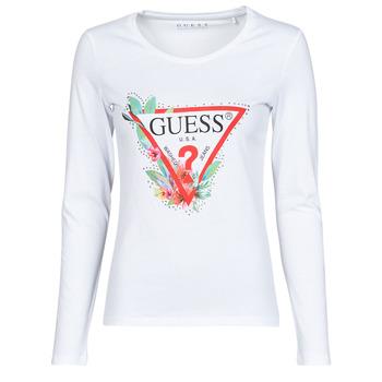 Îmbracaminte Femei Tricouri cu mânecă lungă  Guess LS CN NELLI TEE Alb