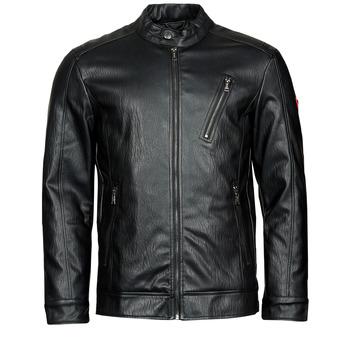 Îmbracaminte Bărbați Jachete din piele și material sintetic Guess PU LEATHER BIKER Negru