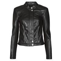Îmbracaminte Femei Jachete din piele și material sintetic Guess FIAMMETTA JACKET Negru