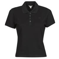 Îmbracaminte Femei Tricou Polo mânecă scurtă Guess ES SS GUESS LOGO PIQUE POLO Negru