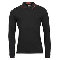 Îmbracaminte Bărbați Tricou Polo manecă lungă Guess STU LS POLO Negru