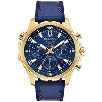 Ceasuri & Bijuterii Bărbați Ceasuri Analogice Bulova 97B168, Quartz, 43mm, 10ATM Auriu