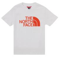Îmbracaminte Băieți Tricouri mânecă scurtă The North Face EASY TEE SS Alb