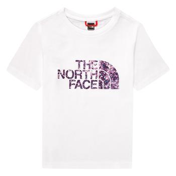 Îmbracaminte Fete Tricouri mânecă scurtă The North Face EASY BOY TEE Alb