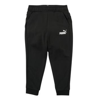 Îmbracaminte Băieți Pantaloni de trening Puma ESSENTIAL SLIM PANT Negru