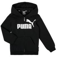 Îmbracaminte Băieți Hanorace  Puma ESSENTIAL BIG LOGO FZ HOODIE Negru