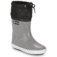 Pantofi Fete Cizme de zapadă Aigle GIBOULEE PRINT Negru / Alb