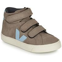 Pantofi Copii Pantofi sport stil gheata Veja SMALL ESPLAR MID Gri / Albastru