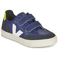 Pantofi Copii Pantofi sport Casual Veja SMALL V-12 VELCRO Albastru / Alb