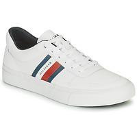 Pantofi Bărbați Pantofi sport Casual Tommy Hilfiger CORE CORPORATE STRIPES VULC Alb
