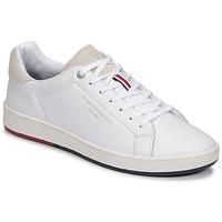 Pantofi Bărbați Pantofi sport Casual Tommy Hilfiger RETRO TENNIS CUPSOLE LEATHER Alb