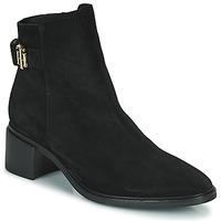 Pantofi Femei Ghete Tommy Hilfiger HARDWARE TH MID HEEL BOOT Negru