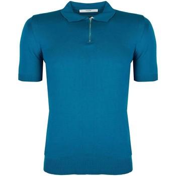 Îmbracaminte Bărbați Tricou Polo mânecă scurtă Takeshy Kurosawa  albastru
