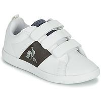 Pantofi Copii Pantofi sport Casual Le Coq Sportif COURTCLASSIC PS Alb / Maro
