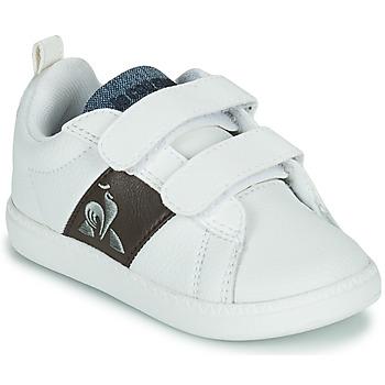 Pantofi Copii Pantofi sport Casual Le Coq Sportif COURTCLASSIC INF Alb / Maro