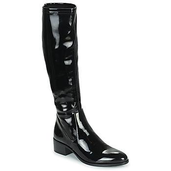 Pantofi Femei Cizme casual Adige CELINE V1 VERNIS NOIR Negru