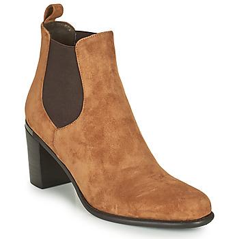 Pantofi Femei Cizme casual Adige FANY V11 VELOURS HAVANE Maro