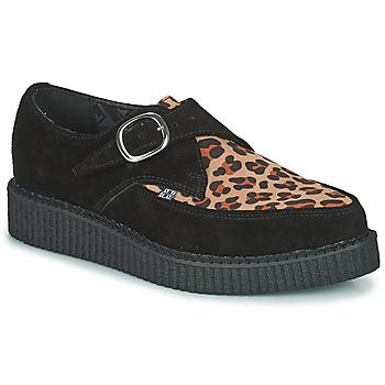 Pantofi Pantofi Derby TUK POINTED CREEPER MONK BUCKLE Negru / Leopard