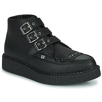 Pantofi Ghete TUK POINTED CREEPER 3 BUCKLE BOOT Negru