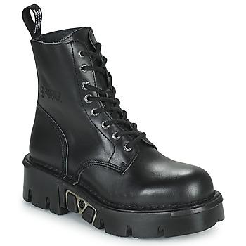 Pantofi Ghete New Rock M-MILI084N-S3 Negru