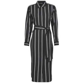 Îmbracaminte Femei Rochii lungi Lauren Ralph Lauren RYNETTA-LONG SLEEVE-CASUAL DRESS Negru