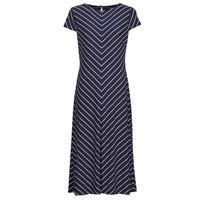 Îmbracaminte Femei Rochii lungi Lauren Ralph Lauren PIPPA-CAP SLEEVE-DAY DRESS Albastru