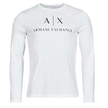 Îmbracaminte Bărbați Tricouri cu mânecă lungă  Armani Exchange 8NZTCH Alb