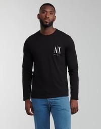 Îmbracaminte Bărbați Tricouri cu mânecă lungă  Armani Exchange 8NZTPL Negru