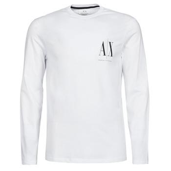 Îmbracaminte Bărbați Tricouri cu mânecă lungă  Armani Exchange 8NZTPL Alb