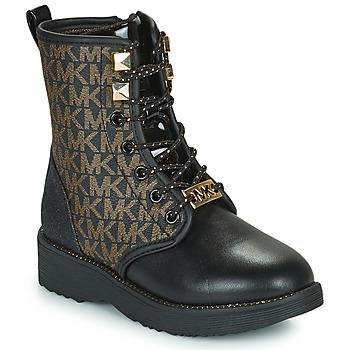 Pantofi Fete Ghete MICHAEL Michael Kors HASKELL Negru / Auriu