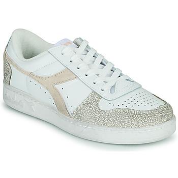 Pantofi Femei Pantofi sport Casual Diadora MAGIC BASKET LOW ICONA WN Alb / Roz