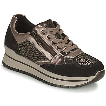 Pantofi Femei Pantofi sport Casual IgI&CO DONNA ANISIA Argintiu / Negru