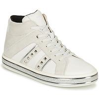 Pantofi Femei Ghete Geox LEELU Alb / Gri