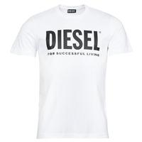 Îmbracaminte Bărbați Tricouri mânecă scurtă Diesel T-DIEGOS-ECOLOGO Alb