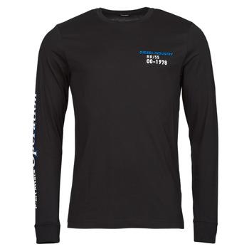 Îmbracaminte Bărbați Tricouri cu mânecă lungă  Diesel T-DIEGOS-LS-K25 Negru