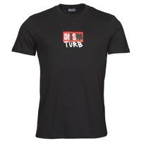 Îmbracaminte Bărbați Tricouri mânecă scurtă Diesel T-DIEGOS-B10 Negru