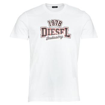Îmbracaminte Bărbați Tricouri mânecă scurtă Diesel T-DIEGOS-K26 Alb