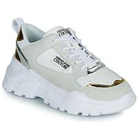 Pantofi Femei Pantofi sport Casual Versace Jeans Couture FREMMI Alb / Auriu / Argintiu