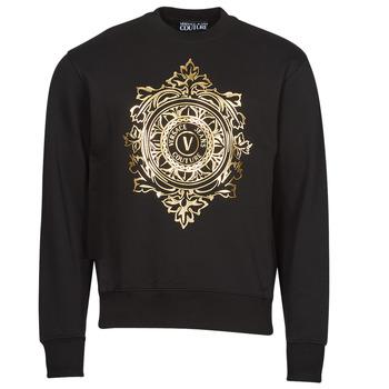Îmbracaminte Bărbați Hanorace  Versace Jeans Couture VEMBLEM LEAF Negru / Auriu