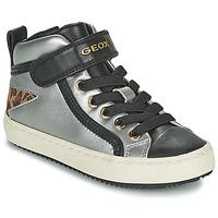 Pantofi Fete Pantofi sport stil gheata Geox KALISPERA Argintiu